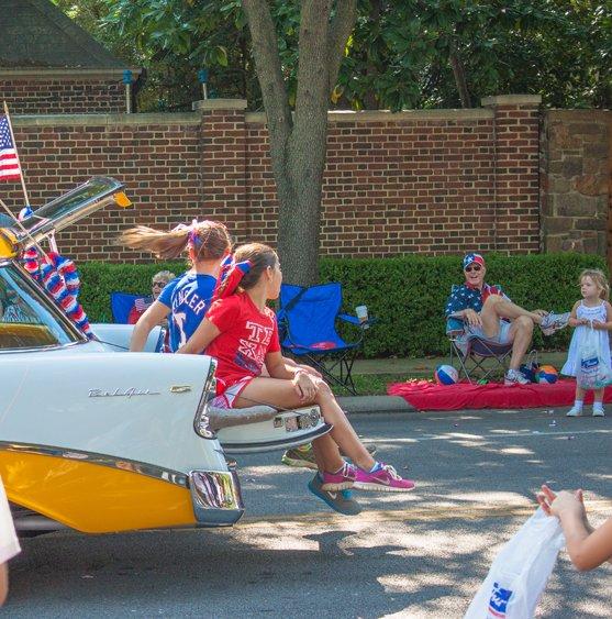 Cab in parade