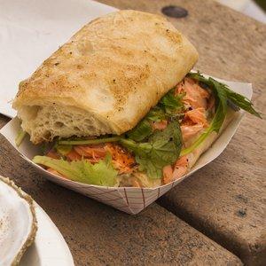 Cape Cleare salmon sandwich