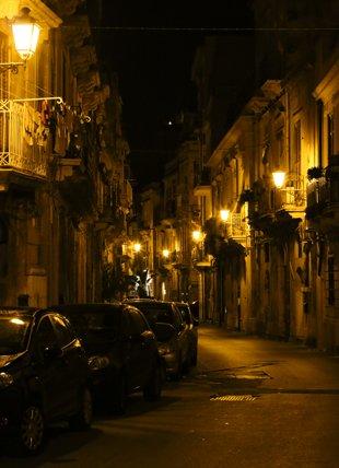 Ortygia at night