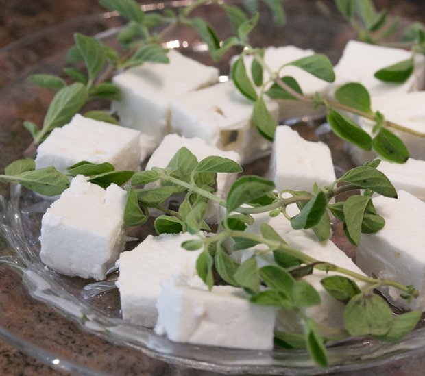 Feta with oregano